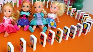 Download DOMINO Shopkins ! Elsa, Anna toddlers & friends play Video