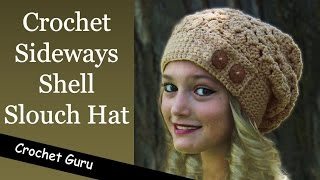 Download How to Crochet a Slouchy Hat - Sideways Shell Slouch Hat Pattern Video