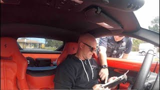 Download Monterey Police Pulls Over Ferrari F12 - Cop Says Youtubers Drive Recklessly For Views And Money Video