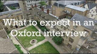 Download What to Expect in an Oxford Interview Video