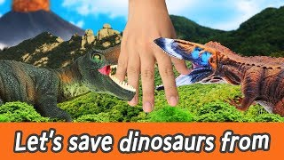 Download [EN] #86 Let's save dinosaurs from volcanic eruption, kids education, CollectaㅣCoCosToy Video
