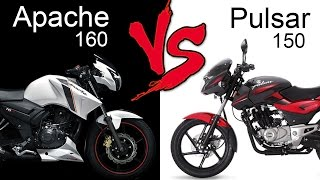 Download TVS Apache RTR 160 Vs Bajaj Pulsar 150 | Comparison Review (EXTENDED) Video