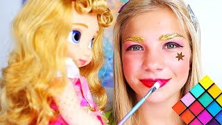Download Maggie and Shanti pretend play Makeup toys Video