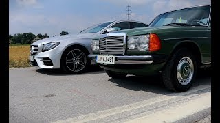 Download Mercedes E 220d (W213) and 300d (W123) Video