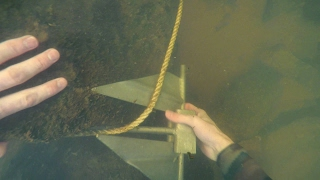 Download Freediving in Murky Water for River Treasure! - Anchor, Fishing Tackle, Zipline and More! Video