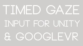 GazeClick for Unity GoogleVR / Cardboard VR Free Download Video MP4