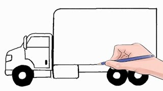 Download How to Draw a Delivery Truck Easy Step by Step Video