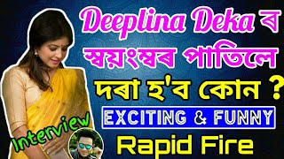 Download Neel Aakash Voice is So sexy, Exciting & Funny Rapid Fire With Deeplina Deka by Bhukhan pathak Video