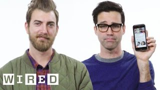 Download Rhett & Link Show Us the Last Thing on Their Phones | WIRED Video