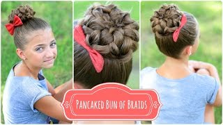 Download Pancaked Bun of Braids | Cute Girls Hairstyles Video