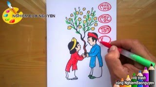 Download Vẽ Thiệp chúc Tết/How to Draw New Year Card Video