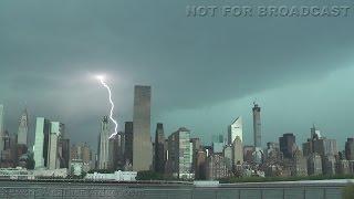 Download NYC Severe Thunderstorms (LIGHTNING OVER MANHATTAN SKYLINE) 8.31.2014 Video