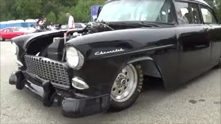 Download 1955 Chevrolet Nostalgic Drag Car Video