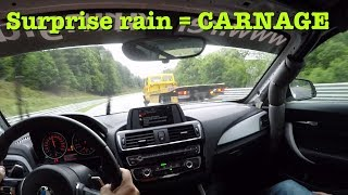 Download CARNAGE: Rain on a sunny day at the Nürburgring Video