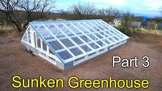 Download Sunken Greenhouse Part 3 - framing, polycarbonate install how to Video