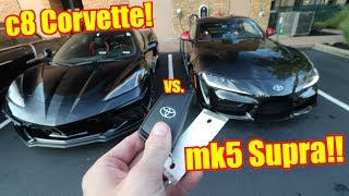 Download THIS is my c8 Corvette spec ft. my Toyota Supra! Video