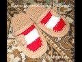 Download Тапочки крючком - Crochet sneaker - 1 часть - вязание подошвы Video
