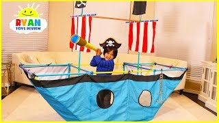 Download Ryan Pretend Play with Pirate Ship Tent! Video