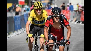 Download Chris Froome @71kg VS Richie Porte @57kg Up A Hillclimb Finish Video