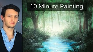 Download Painting a Misty Forest Landscape with Acrylics in 10 Minutes! Video