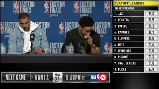 Download Malcolm Brogdon & George Hill Press Conference | Eastern Conference Finals Game 3 Video
