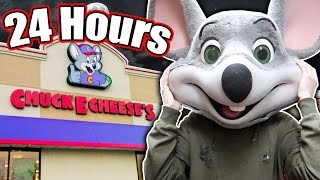 Download (REAL) 24 HOUR OVERNIGHT CHALLENGE in CHUCK E CHEESE // FIVE NIGHTS AT FREDDYS CHUCKY CHEESE Video