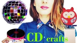 Download 10 DIY creative ways to reuse / recycle your old CDs / DVDs - HOW TO! Video