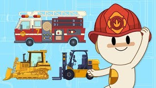 Download Roar, Hum, Purr! Toy Firetruck & Tractors at Finley's Factory | Cartoons for Kids Video