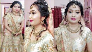 Download Engagement Makeup Step By Step/Girl Ring Ceremony Makeup/मेकअप हेअरस्टाइल और सर से चुन्नी कैसे ले Video
