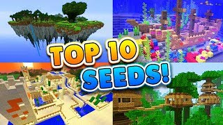 Download TOP 10 BEST SEEDS for Minecraft 1.4! (Pocket Edition, PS4, Xbox, Switch, PC) Video