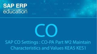 Download SAP CO Settings : CO-PA Part №2 Maintain Characteristics and Values KEA5 KES1 Video