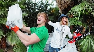 Download Building an Igloo in Hollywood w/ Logan Paul Video
