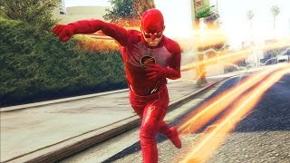 Download GTA 5 - THE FLASH MOD! MOST ULTIMATE FLASH SUPERHERO MOD (GTA 5 Mod Showcase) Video