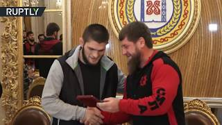 Download Kadyrov makes Khabib honorary citizen of Grozny Video