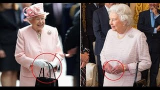 Download Queen uses her HANDBAG to send secret signals to her staff Video