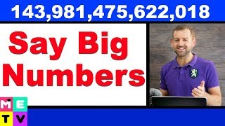Download How to Say Big Numbers in English Video