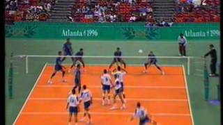 Download 1996 Olympic Games Volleyball Italy - Yugoslavia set 3 Video