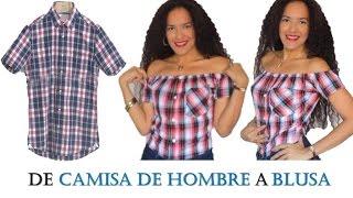 Download BLUSA HOMBROS DESCUBIERTOS con camisa de hombre reciclada - Tutorial de SANDRA PADILLA Video
