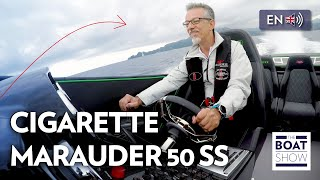 Download [ENG] CIGARETTE MARAUDER 50 SS - INSANE SPEED! - Review - The Boat Show Video