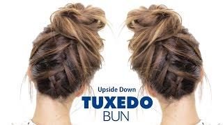 Download TUXEDO BRAID BUN Hairstyle ★ French Braid Hairstyles Video