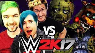Download DanTDM, JackSepticEye & Markiplier Vs. Five Nights at Freddy's | WWE 2K17 Video