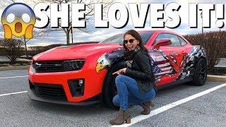 Download My Girlfriend's Reaction To My INSANE Camaro ZL1!! Video