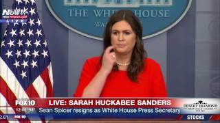 Download WATCH: Sarah Huckabee Sanders Holds Press Briefing After Sean Spicer Resigns (FNN) Video
