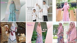 Download Baju Gamis Terbaru 2019 Syari dan Baju Keluarga Lebaran Sekarang Ini Video