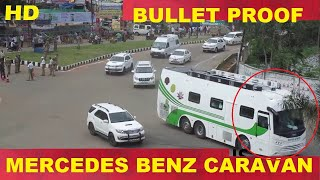 Download CM KCR High security Mercedes Benz caravan convoy in karimnagar Video