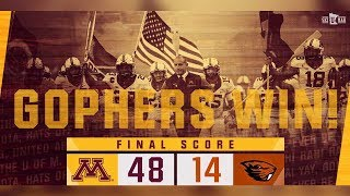 Download Highlights: Gopher Football Runs Past Oregon State 48-14 Video