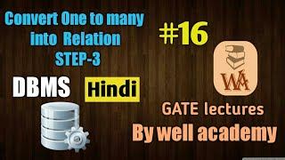 Download ER model to relational tables | convert one to many Relationship | DBMS gate lectures in hindi | #16 Video