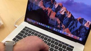 Download A quick look at the MakBook Pro 2016 touch-bar Video