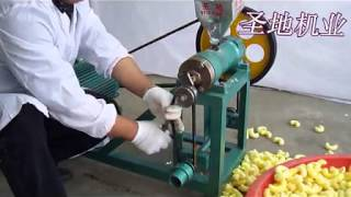 Download motor running maize puffed food machine, corn puffs extruder Video
