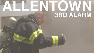 Download 3RD Alarm Building Fire in Allentown, PA. 07/28/16 Video